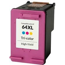 ReChargX® HP 64XL (N9J91AN) High Capacity Tri-Color Inkjet Cartridge