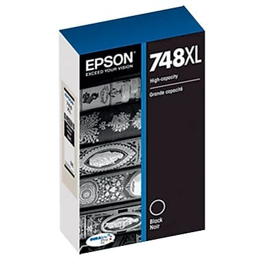 Genuine Epson 748XL (T748XL120) High Capacity Black Ink Cartridge