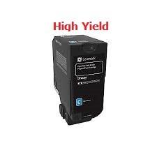 Genuine Lexmark 74C1HC0 High Yield Cyan Toner Cartridge