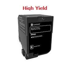Genuine Lexmark 74C1HK0 High Yield Black Toner Cartridge