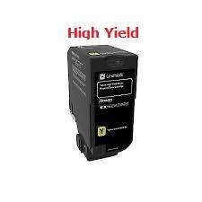 Genuine Lexmark 74C1HY0 High Yield Yellow Toner Cartridge