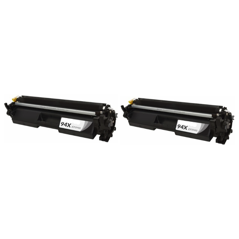 ReChargX® HP CF294X, 94X Set of 2 High Yield Toner Cartridges