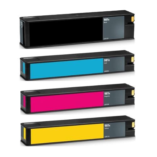 ReChargX® HP 981X High Yield Black, Cyan, Magenta & Yellow Ink Cartridges