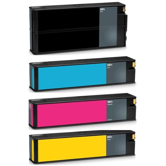 ReChargX® HP 981Y Extra High Yield Black, Cyan, Magenta & Yellow Ink Cartridge