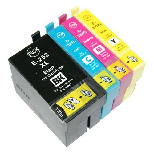 ReChargX Compatible Epson 252XL B/C/M/Y Ink Cartridges (4 Pack)