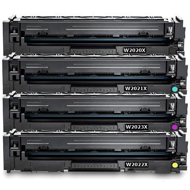 ReChargX® HP 414X High Yield Black, Cyan, Magenta & Yellow Toner Cartridges