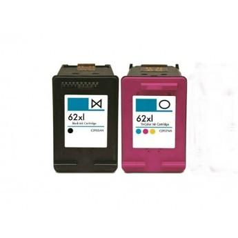ReChargX® HP 62XL (C2P05AN & C2P07AN) High Yield Black & Tri-Color Ink Cartridges