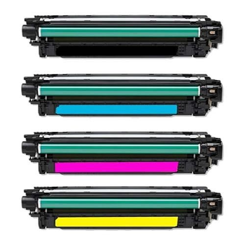 ReChargX® HP 651A (CE340A, CE341A, CE343A, CE342A) Black, Cyan, Magenta & Yellow Toner Cartridges