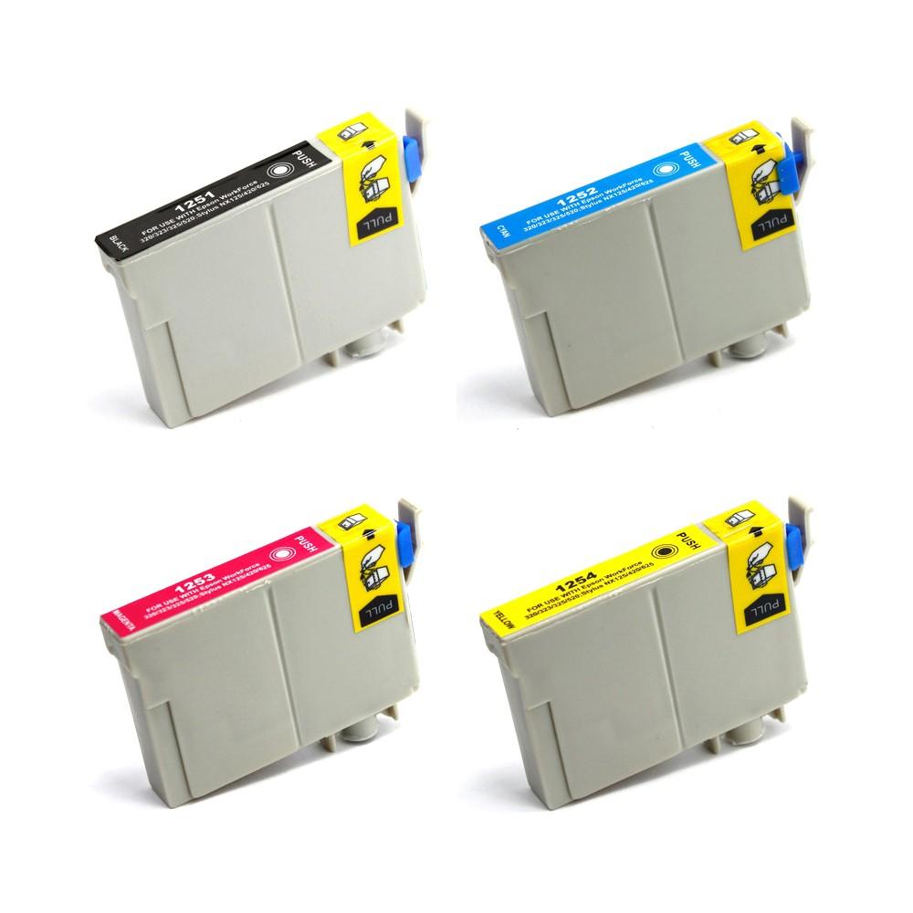 ReChargX Standard-Yield B/C/M/Y Ink Cartridges (4 Pack)