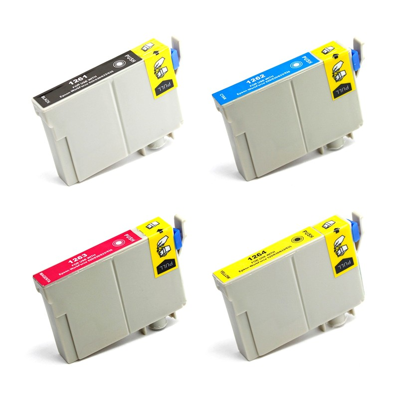 ReChargX High-Yield B/C/M/Y Ink Cartridges (4 Pack)