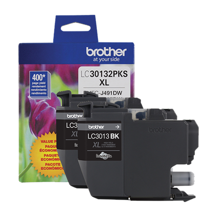 Genuine Brother LC30132PKS 2-Pack High Yield Black Ink Cartridges