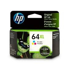 Genuine HP 64XL (N9J91AN) High Capacity Tri-Color Inkjet Cartridge