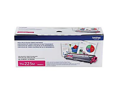Genuine Brother TN225 High-Yield Magenta Toner Cartridge