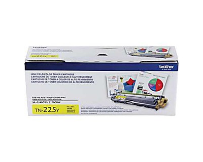 Genuine Brother TN225 High-Yield Yellow Toner Cartridge