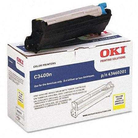 Genuine Okidata 43460201 Yellow Drum Unit (Includes 1K Yellow Toner Cartridge)