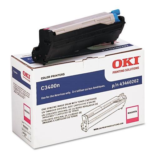 Genuine Okidata 43460202 Magenta Drum Unit (Includes 1K Magenta Toner Cartridge)