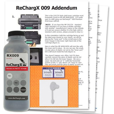 ReChargX HP C4127A (27A), C4127X (27X) Toner Refill Kit