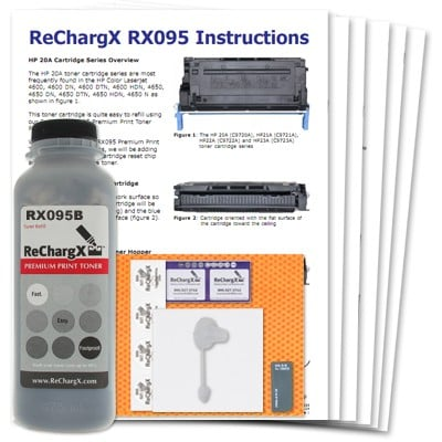 ReChargX Black Toner Refill Kit