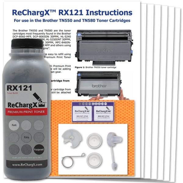 ReChargX® Brother TN550/TN580 High Yield Toner Refill Kit