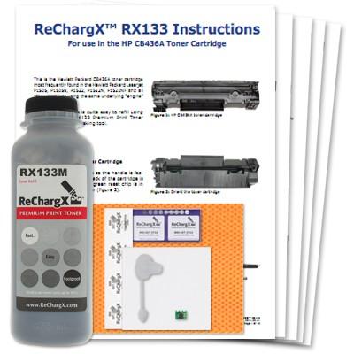 ReChargX® HP CB436A (36A) MICR Toner Refill Kit