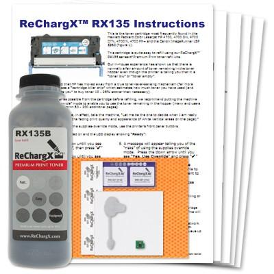 ReChargX Black Toner Refill Kit