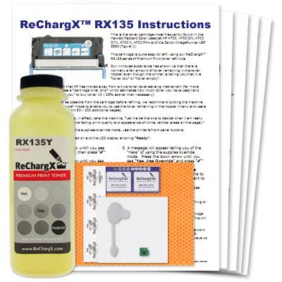 ReChargX Yellow Toner Refill Kit