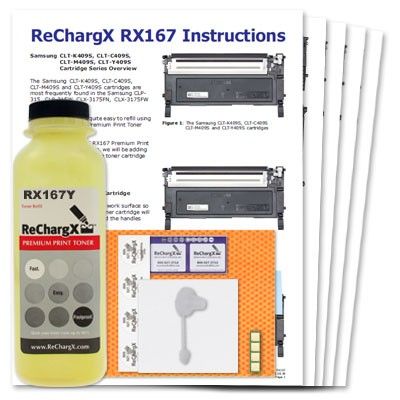 ReChargX® Samsung CLT-Y409S Yellow Toner Refill Kit