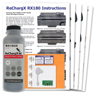 ReChargX High-Yield Samsung 105L Toner Refill Kit
