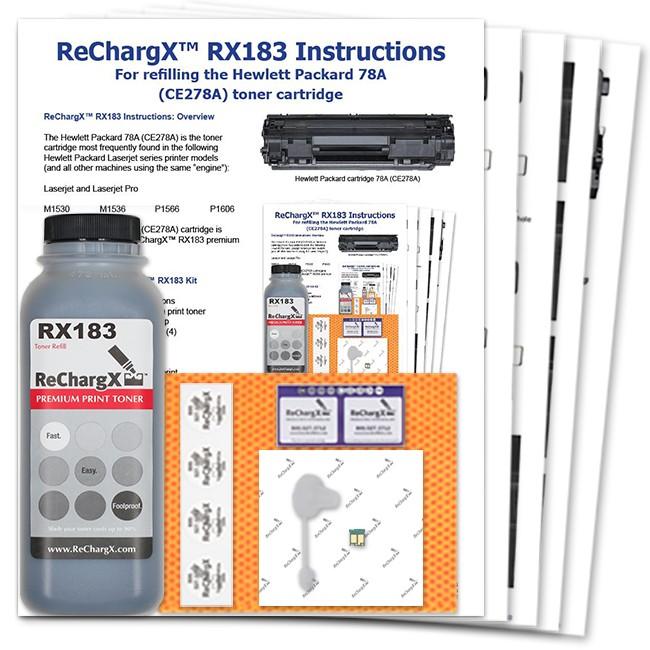 ReChargX® HP CE278A (78A) Toner Refill Kit