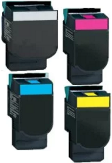 ReChargX® Lexmark C544/C546/X544/X548 Extra High-Yield K, C, M & Y Toner Cartridges (4/Pack)