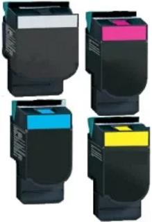 ReChargX® Lexmark C544/C546/X544/X548 Extra High-Yield K, C, M & Y Toner Cartridges (4/Pack)