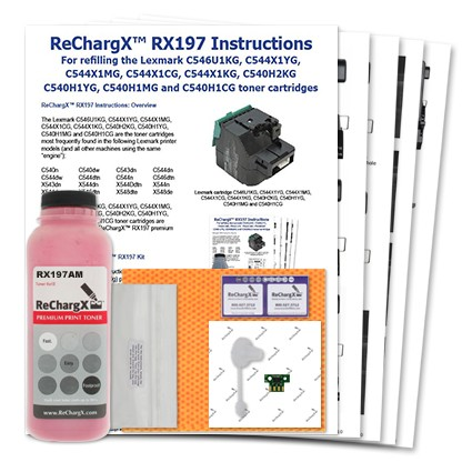 ReChargX Standard-Yield Magenta Toner Refill Kit