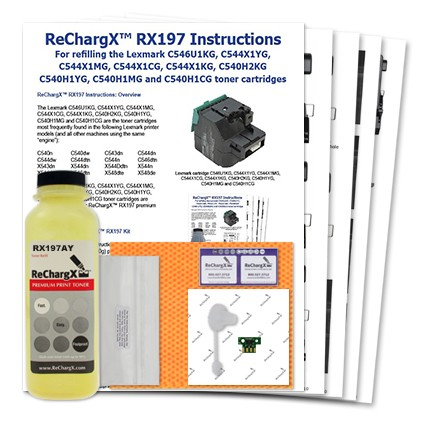 ReChargX Standard-Yield Yellow Toner Refill Kit