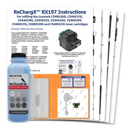 ReChargX High-Yield Cyan Toner Refill Kit