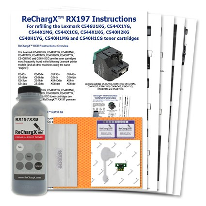 ReChargX Extra High-Yield Black Toner Refill Kit