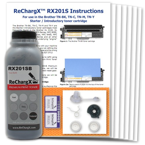 ReChargX Starter Cartridge Toner Refill Kit