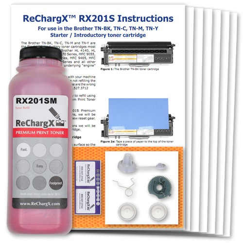 ReChargX Starter Cartridge Magenta Toner Refill Kit