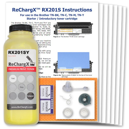 ReChargX Starter Cartridge Yellow Toner Refill Kit