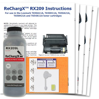 ReChargX Low-Yield Toner Refill Kit