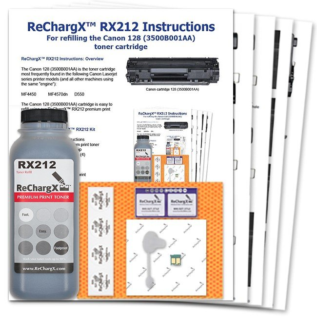 ReChargX® Canon 128 (3500B001) Toner Refill Kit
