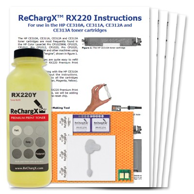ReChargX Yellow Toner Refill Kit