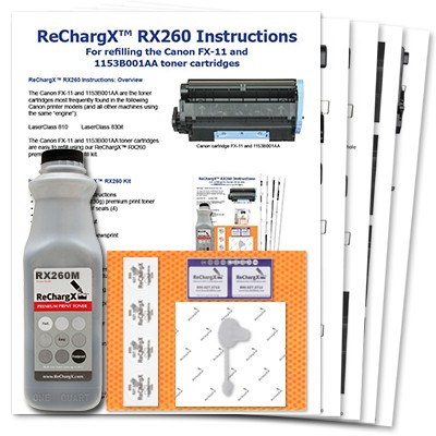 ReChargX MICR Toner Refill Kit (Only needed if you are printing checks)
