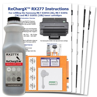 ReChargX® Samsung 205 Extra High-Yield Toner Refill Kit