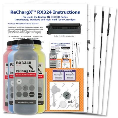 ReChargX B/C/M/Y Toner Refill Kits