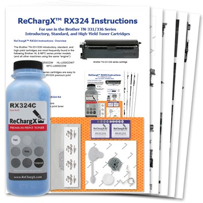 ReChargX Cyan Toner Refill Kit