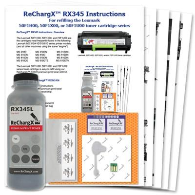 ReChargX® Lexmark 501H High-Yield Toner Refill Kit
