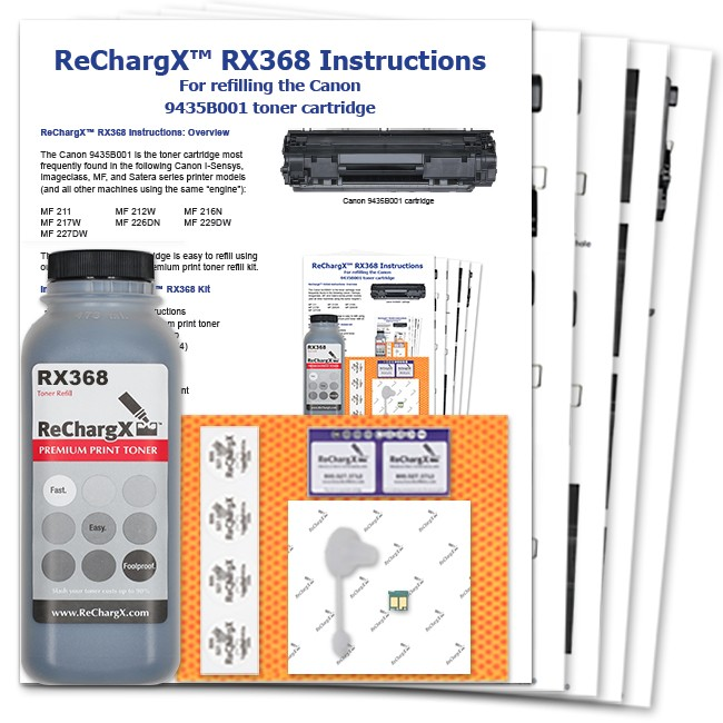 ReChargX® Canon 9435B001 (Cartridge 137, 337 Japan, 737 Euro) Toner Refill Kit