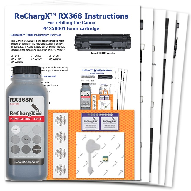 ReChargX® Canon 9435B001 (Cartridge 137, 337 Japan, 737 Euro) MICR Toner Refill Kit