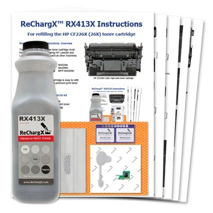 ReChargX® HP CF226X (26X) high-yield toner refill kit