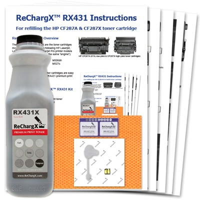 ReChargX® HP CF287X (87X) High Yield Toner Refill Kit